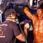 Servizio di colorazione professionale durante le gare di Bodybuilding con il prodotto migliore del mondo PROTAN Official